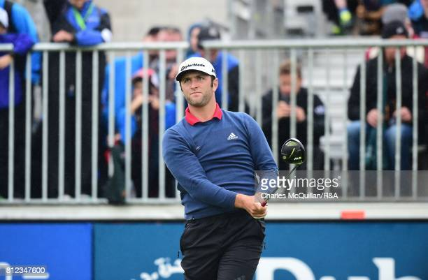 Jon Rahm of Spain during the final round of the Dubai Duty Free Irish Open hosted by the Rory Foundation at Portstewart Golf Club on July 9 2017 in...
