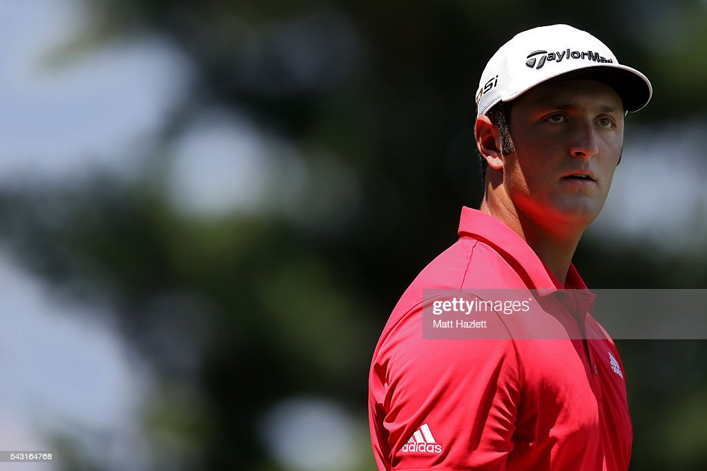Jon Rahm of Spain walks down the fairway after playing a shot from the third tee during the final round of the Quicken Loans National at Congressional Country Club on June 26, 2016 in Bethesda, Maryland.