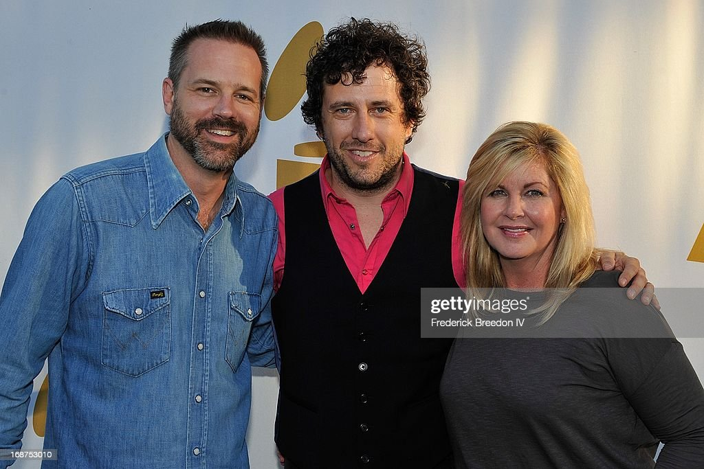 Jon Randall Stewart, <a gi-track='captionPersonalityLinkClicked' href=/galleries/search?phrase=Will+Hoge&family=editorial&specificpeople=6963326 ng-click='$event.stopPropagation()'>Will Hoge</a>, and Susan Stewart attend the GRAMMY Block Party at Owen Bradley Park on May 14, 2013 in Nashville, Tennessee.