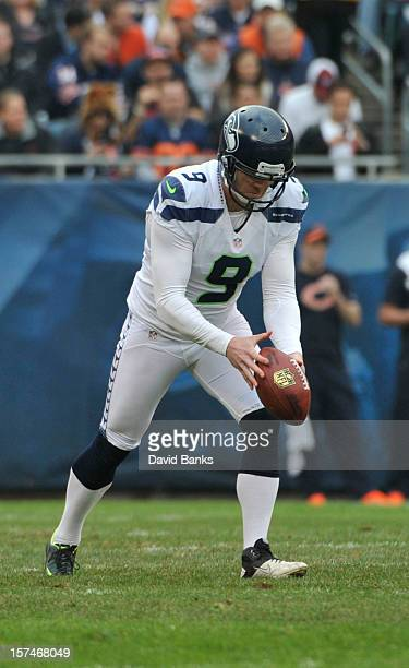 Jon Ryan of the Seattle Seahawks punts the ball against the Chicago Bears on December 2 2012 at Soldier Field in Chicago IllinoisThe Seattle Seahawks...