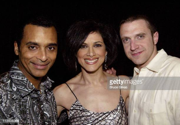 Jon Secada Saundra Santiago and Raul Esparza during 'Latin Rhythyms II' to Benefit Broadway Cares/Equity Fights AIDS at BB King Blues Club and Grill...