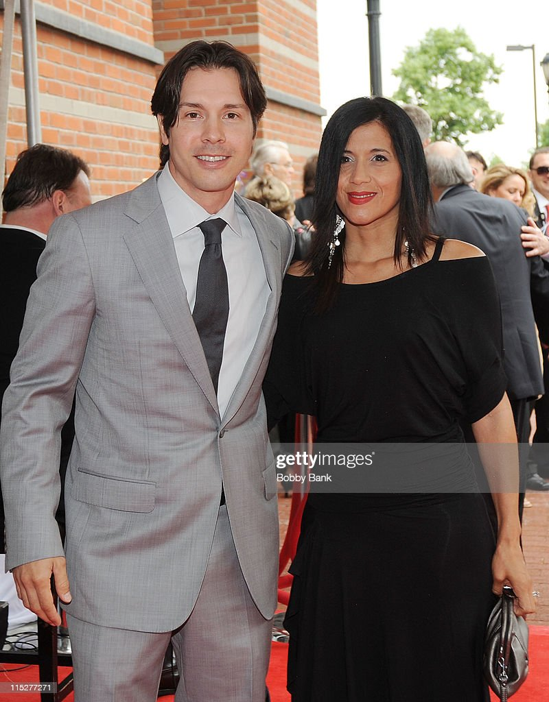 <a gi-track='captionPersonalityLinkClicked' href=/galleries/search?phrase=Jon+Seda&family=editorial&specificpeople=1657233 ng-click='$event.stopPropagation()'>Jon Seda</a> and Lisa Seda attends the 2011 New Jersey Hall of Fame Induction Ceremony at the New Jersey Performing Arts Center on June 5, 2011 in Newark, New Jersey.