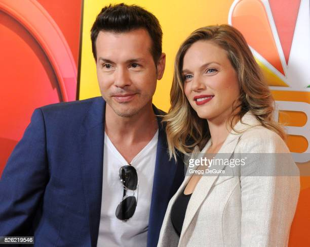 Jon Seda and Tracy Spiridakos arrive at the 2017 Summer TCA Tour NBC Press Tour at The Beverly Hilton Hotel on August 3 2017 in Beverly Hills...