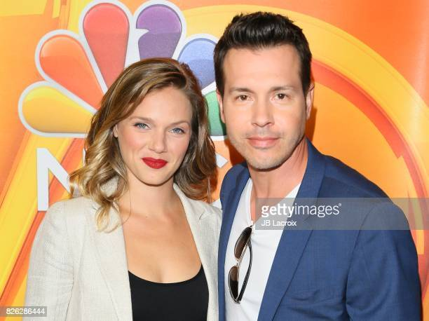 Jon Seda and Tracy Spiridakos attend the 2017 Summer TCA Tour 'NBCUniversal Press Tour' on August 03 2017 in Los Angeles California