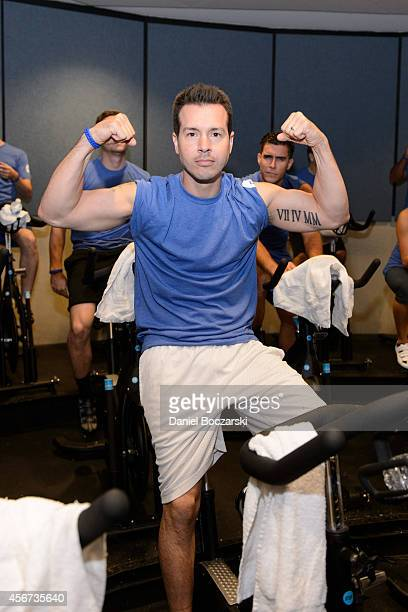 Jon Seda attends as the casts of Chicago Fire and Chicago PD participate in a Flywheel Sports ride to benefit the 100 Club of Chicago at Flywheel...