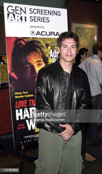 Jon Seda during Gen Art Presents the World Premiere of 'Love The Hard Way' at Chelsea West Theater in New York City New York United States