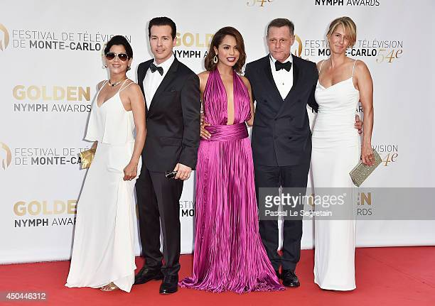 Jon Seda Monica Raymund and Jason Beghe arrive at the closing ceremony of the 54th MonteCarlo Television Festival on June 11 2014 in MonteCarlo Monaco