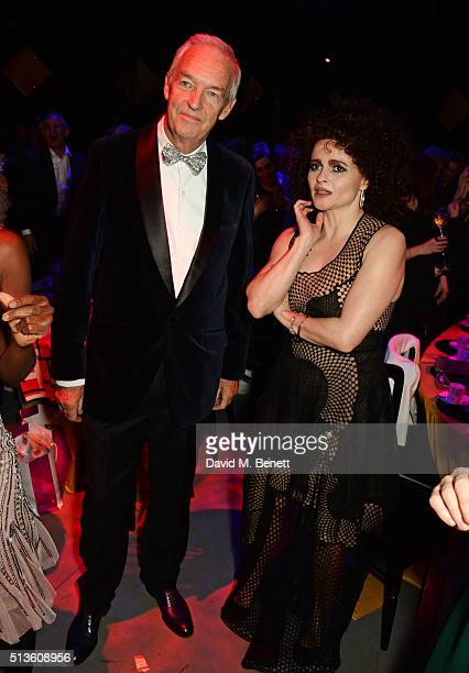 Jon Snow and Helena Bonham Carter attend 'A Night Of Motown' for Save The Children UK at The Roundhouse on March 3 2016 in London England