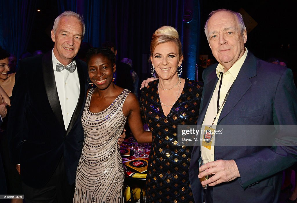 Jon Snow Precious Lunga Dora Loewenstein and Sir Tim Rice attend 'A Night Of Motown' for Save The Children UK at The Roundhouse on March 3 2016 in...