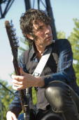 Jon Spencer of The Blues Explosion performs during day two of Pitchfork Music Festival at Union Park on July 17 2010 in Chicago Illinois
