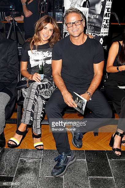 Jon Stevens and Jodhi Meares poses before the David Jones Autumn/Winter 2015 Collection Launch at David Jones Elizabeth Street Store on February 4...