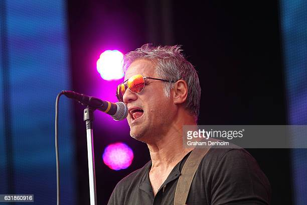 Jon Stevens performs on the Australian Open Live Stage during day two of the 2017 Australian Open at Melbourne Park on January 17 2017 in Melbourne...