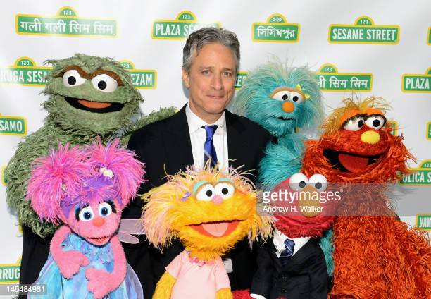 Jon Stewart attends the Sesame Street Workshop 10th Annual Benefit Gala at Cipriani 42nd Street on May 30 2012 in New York City