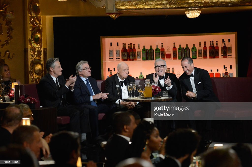 Jon Stewart Robert De Niro Don Rickles Martin Scorsese and Jerry Seinfeld attend Spike TV's 'Don Rickles One Night Only' on May 6 2014 in New York...