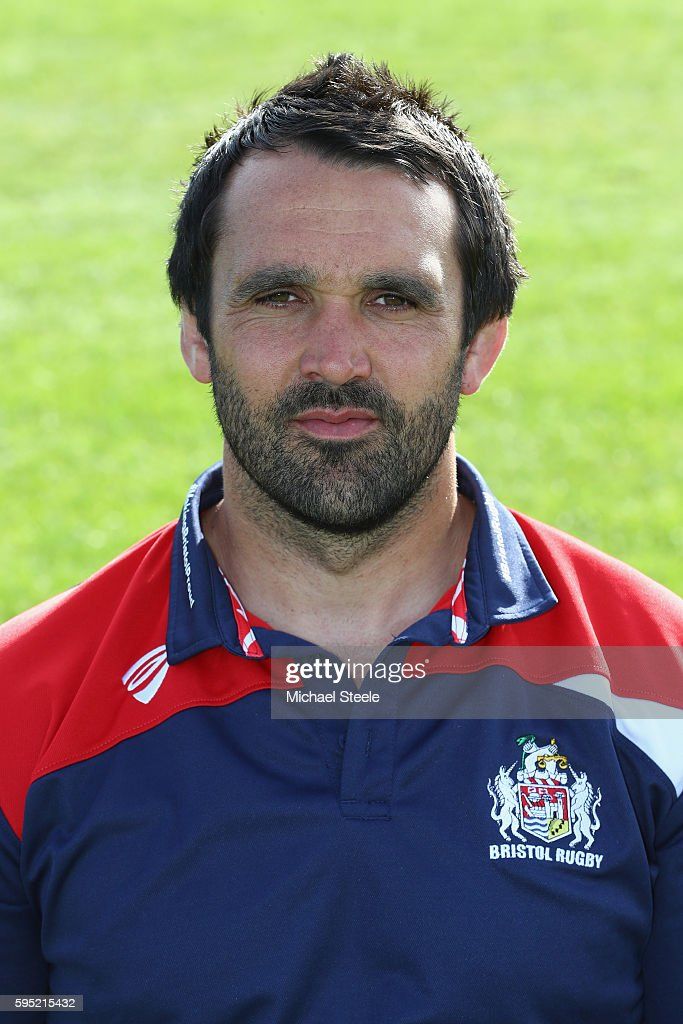 Jon Thomas Defence Coach poses for a portrait during the Bristol Rugby squad photo call for the 20162017 Aviva Premiership Rugby season on August 23...