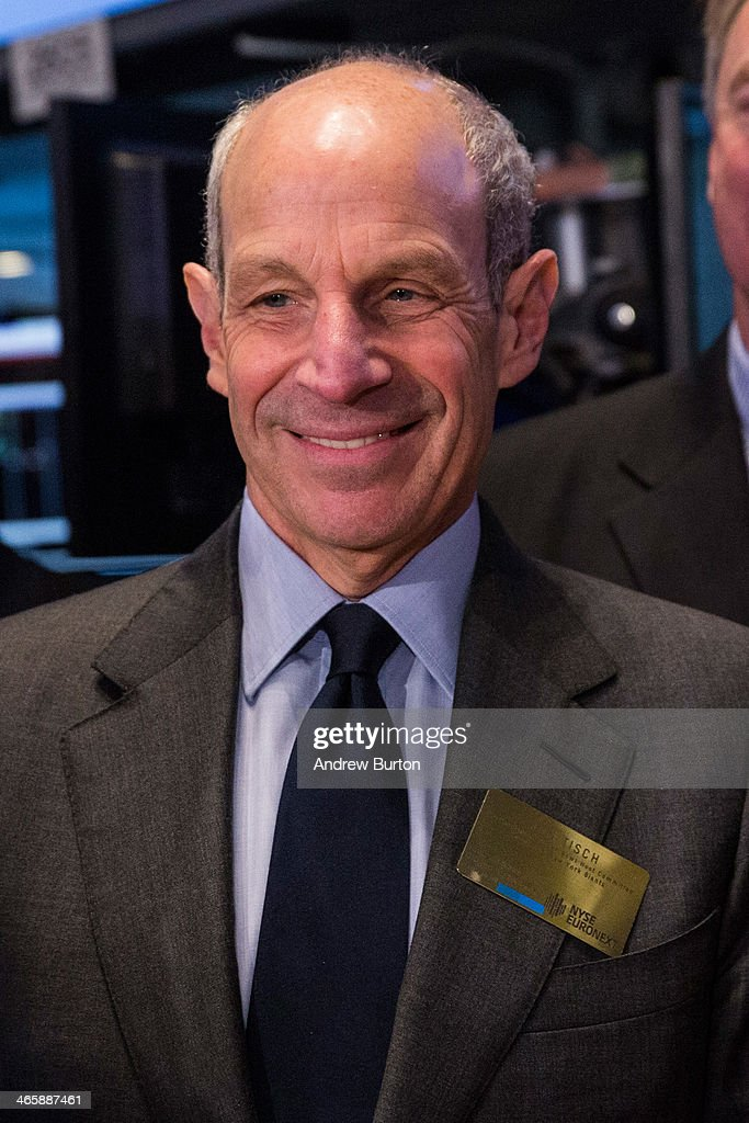 Jon Tisch, co-chairman of the Super Bowl Host Committee and co-owner of the New York Giants, arrives on the floor of the New York Stock Exchange (NYSE) on the morning of January 30, 2014 in New York City. The NYSE welcomed members of the Super Bowl Host Committee, owners and managers of the Denver Broncos and Seattle Seahawks to ring the opening bell today.