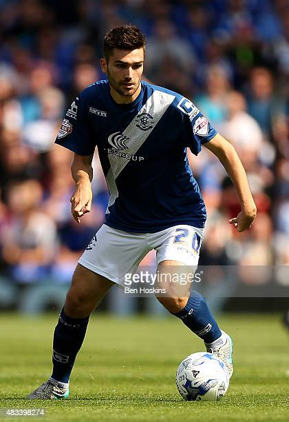 Jon Toral of Birmingham in action during the Sky Bet Championship match between Birmingham City and Reading at St Andrews Stadium on August 8 2015 in...