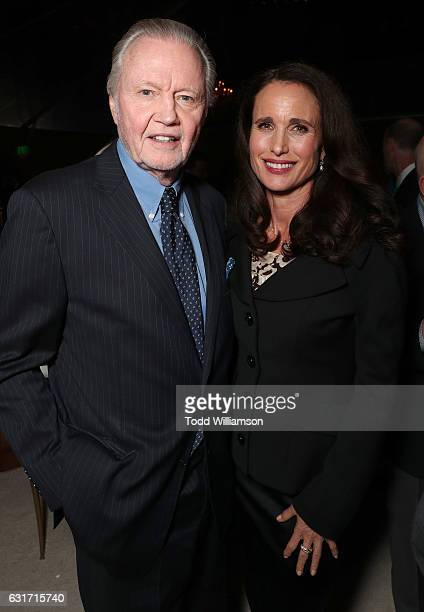 Jon Voight and Andie MacDowell attend the Hallmark Channel And Hallmark Movies And Mysteries Winter 2017 TCA Press Tour at The Tournament House on...