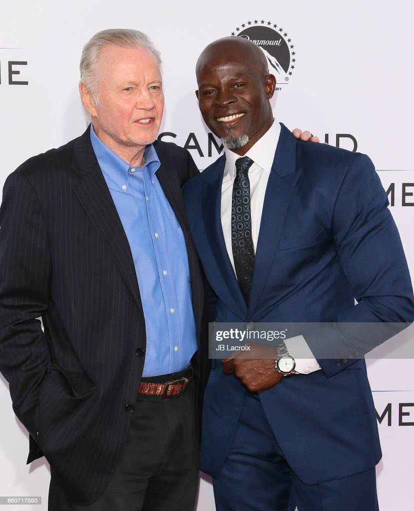 Jon Voight and Djimon Hounsou attend the premiere of Paramount Pictures and Pure Flix Entertainment's 'Same Kind Of Different As Me' on October 12, 2017 in Los Angeles, California.