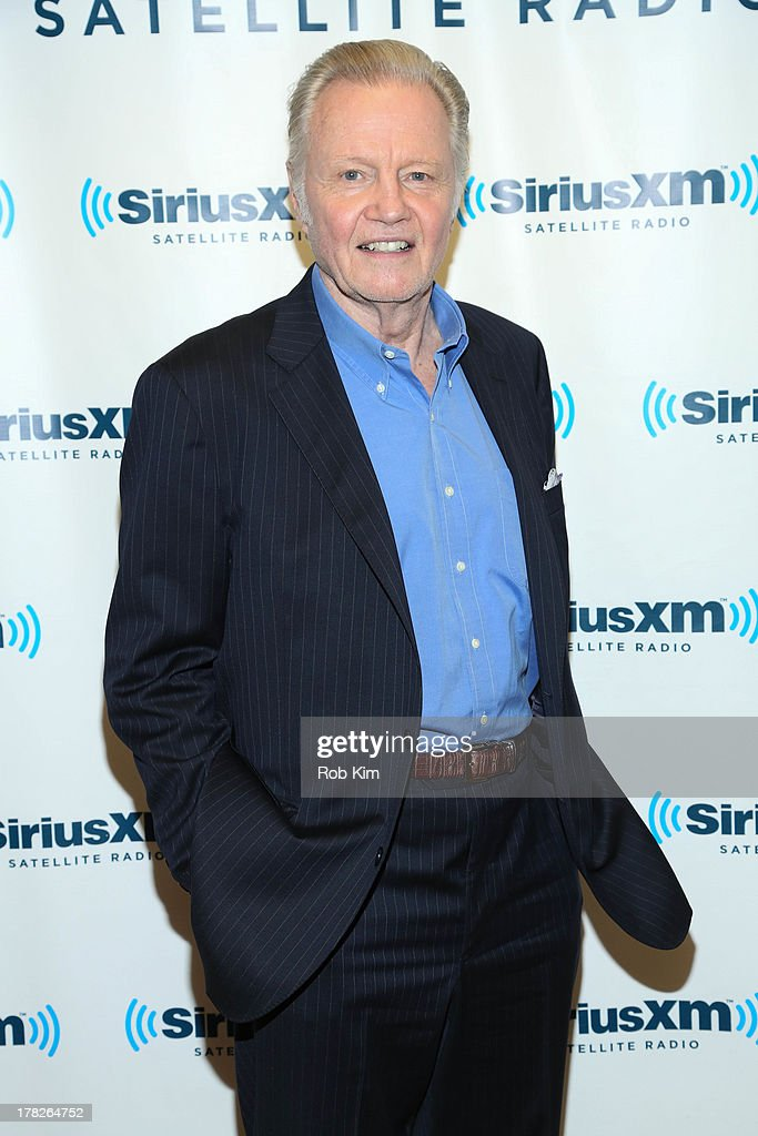 <a gi-track='captionPersonalityLinkClicked' href=/galleries/search?phrase=Jon+Voight&family=editorial&specificpeople=202872 ng-click='$event.stopPropagation()'>Jon Voight</a> visits SiriusXM Studios on August 28, 2013 in New York City.