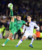 Jon Walters of Republic of Ireland and Muhamed Besic BosniaHerzegovina during the Euro 2016 playoff second leg between Republic of Ireland and Bosnia...