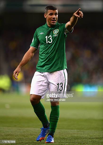 Jon Walters of Republic of Ireland in acion during the FIFA 2014 World Cup Qualifying Group C match between Republic of Ireland and Sweden at Aviva...