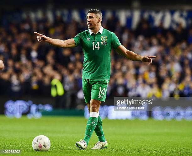 Jon Walters of the Republic of Ireland during the Euro 2016 playoff second leg match between the Republic of Ireland and BosniaHerzegovina at Aviva...