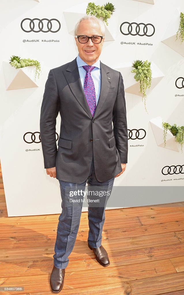 Jon Zammett, Head of PR for Audi UK, attends day one of the Audi Polo Challenge at Coworth Park on May 28, 2016 in London, England.