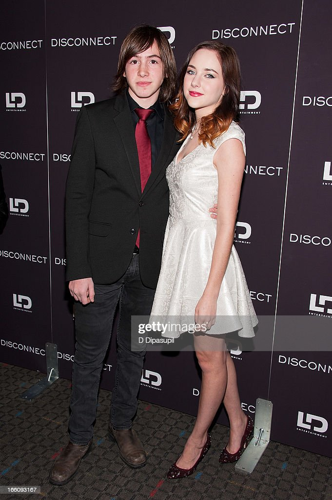 Jonah Bobo and Haley Ramm attend the 'Disconnect' New York Special Screening at SVA Theater on April 8 2013 in New York City