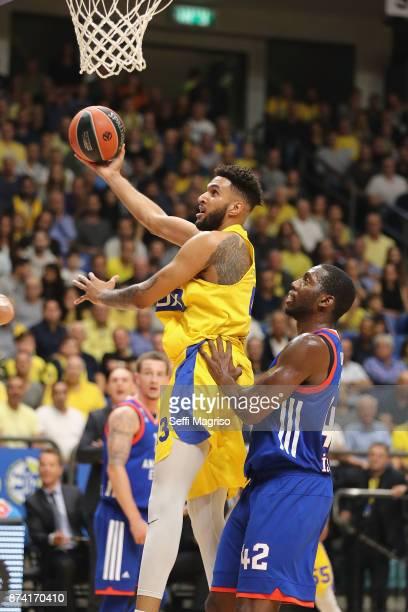 Jonah Bolden #43 of Maccabi Fox Tel Aviv in action during the 2017/2018 Turkish Airlines EuroLeague Regular Season Round 7 game between Maccabi Fox...
