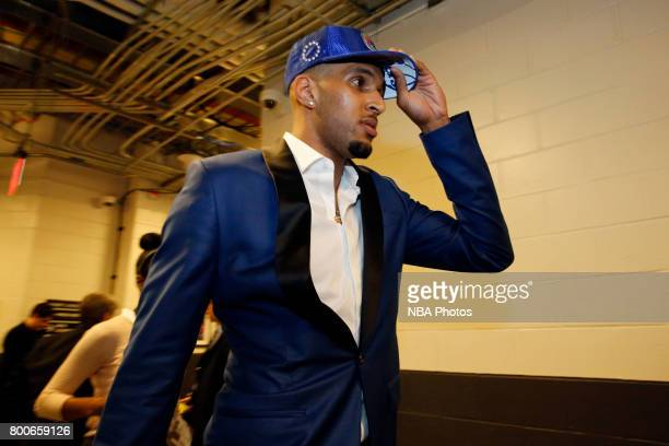 Jonah Bolden of the Philadelphia 76ers is seen during the 2017 NBA Draft on June 22 2017 at Barclays Center in Brooklyn New York NOTE TO USER User...