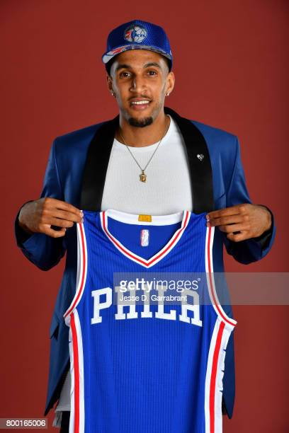 Jonah Bolden of the Philadelphia 76ers poses for a portrait at the post draft press conference on June 23 2017 at the Sixers Training Complex in...