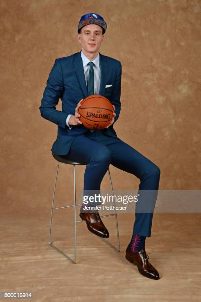 Jonah Bolden poses for a portrait after being drafted number thirtysix overall to the Philadelphia 76ers during the 2017 NBA Draft on June 22 2017 at...