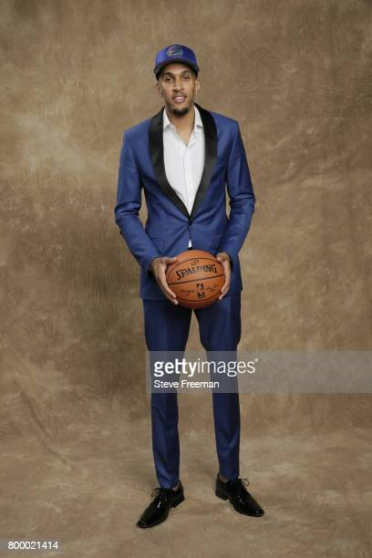 Jonah Bolden poses for a portrait after being selected thirtysixth overall by the Philadelphia 76ers during the 2017 NBA Draft on June 22 2017 at...
