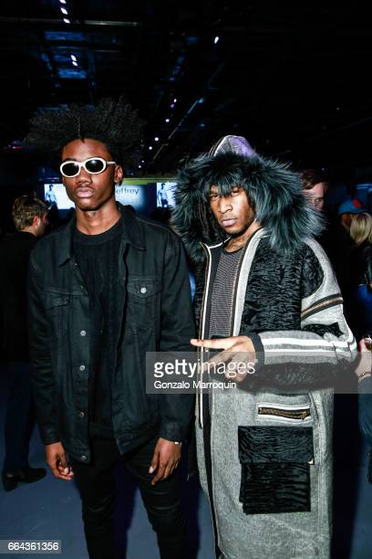 Jonah Busch and Lord X Prince attended the Jeffrey Fashion Cares showat Intrepid SeaAirSpace Museum on April 3 2017 in New York City