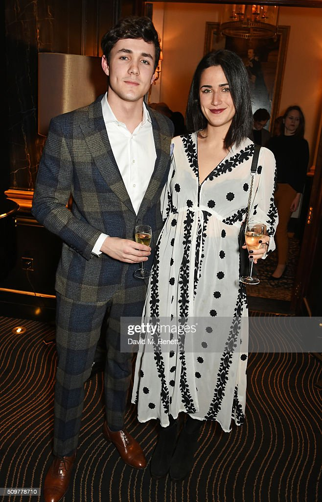 Jonah Hauer King (L) attends the GQ and Hackett Pre-BAFTA party, celebrating Hackett's fifth year as the Official Menswear Stylist to the EE British Academy Film Awards, at The Savoy Hotel on February 12, 2016 in London, England.