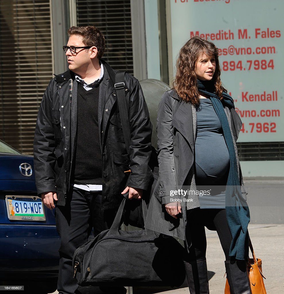 <a gi-track='captionPersonalityLinkClicked' href=/galleries/search?phrase=Jonah+Hill&family=editorial&specificpeople=544481 ng-click='$event.stopPropagation()'>Jonah Hill</a> and <a gi-track='captionPersonalityLinkClicked' href=/galleries/search?phrase=Felicity+Jones&family=editorial&specificpeople=5128418 ng-click='$event.stopPropagation()'>Felicity Jones</a> filming on location for 'True Story' on March 20, 2013 in New York City.
