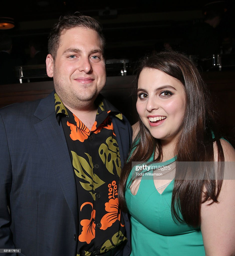 Jonah Hill and sister Beanie Feldstein attend the after party for the premiere of Universal Pictures' 'Neighbors 2: Sorority Rising' on May 16, 2016 in Los Angeles, California.