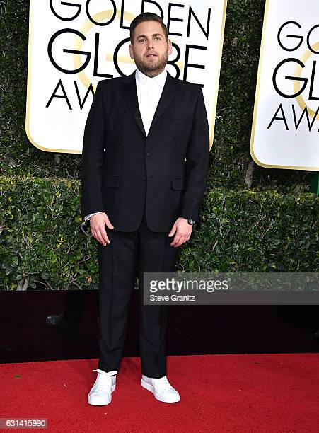 Jonah Hill arrives at the 74th Annual Golden Globe Awards at The Beverly Hilton Hotel on January 8 2017 in Beverly Hills California