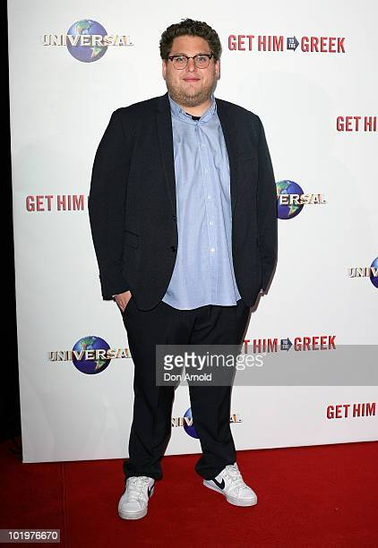 Jonah Hill arrives at the premiere of 'Get Him To The Greek' at Event Cinemas George Street on June 11 2010 in Sydney Australia