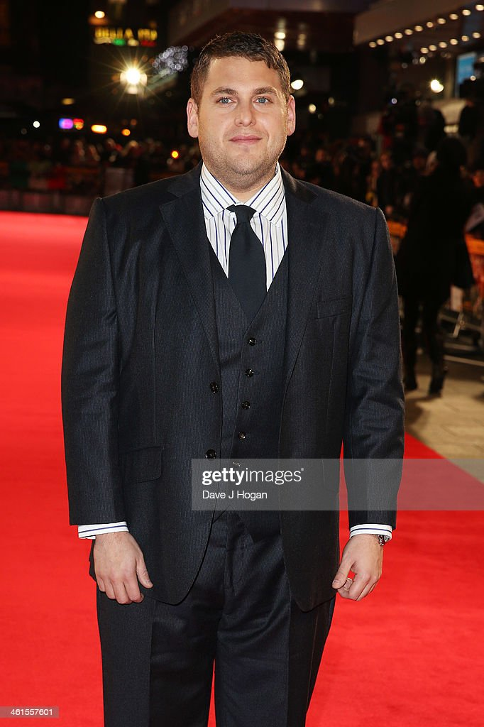 <a gi-track='captionPersonalityLinkClicked' href=/galleries/search?phrase=Jonah+Hill&family=editorial&specificpeople=544481 ng-click='$event.stopPropagation()'>Jonah Hill</a> attends the UK premiere of 'The Wolf Of Wall Street' at The Odeon Leicester Square on January 9, 2014 in London, England.