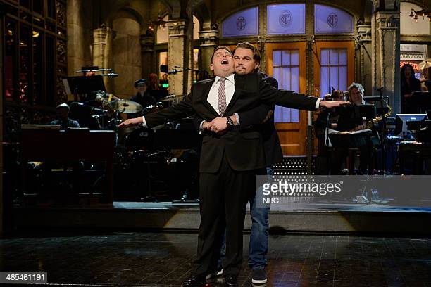 LIVE 'Jonah Hill' Episode 1653 Pictured Jonah Hill Leonardo DeCaprio