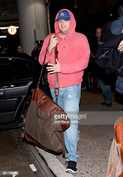 Jonah Hill is seen at LAX airport on January 10 2014 in Los Angeles California