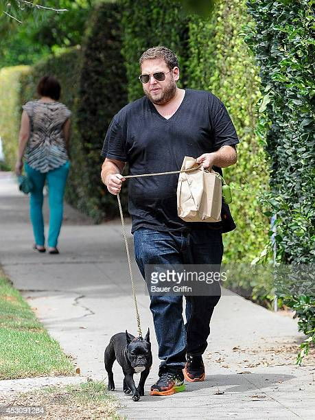 Jonah Hill is seen in Hollywood on August 02 2014 in Los Angeles California