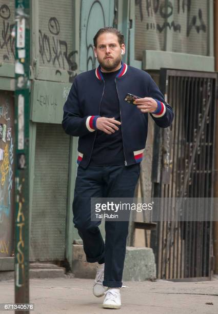 Jonah Hill is seen in Noho on April 21 2017 in New York City