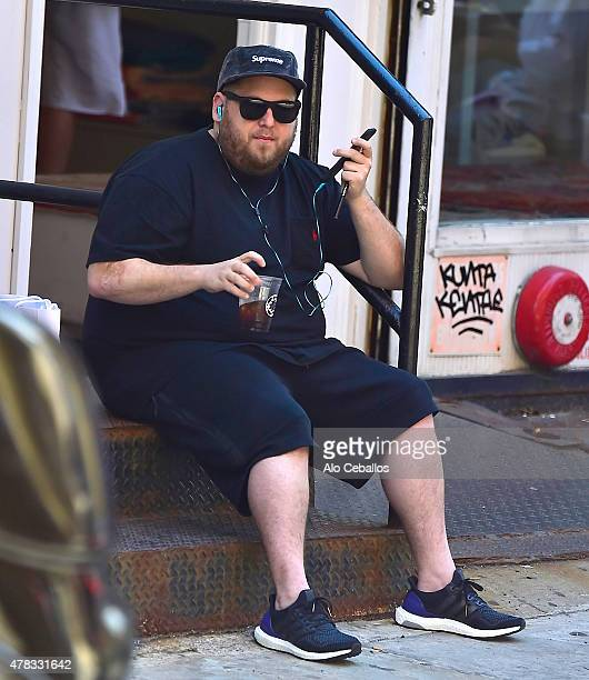 Jonah Hill is seen in Soho on June 24 2015 in New York City