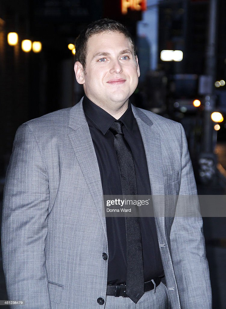 <a gi-track='captionPersonalityLinkClicked' href=/galleries/search?phrase=Jonah+Hill&family=editorial&specificpeople=544481 ng-click='$event.stopPropagation()'>Jonah Hill</a> leaves the 'Late Show with David Letterman' at Ed Sullivan Theater on November 21, 2013 in New York City.