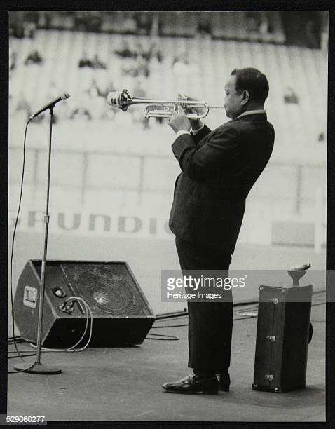 Jonah Jones playing at the Newport Jazz Festival Ayresome Park Middlesbrough July 1978 Artist Denis Williams