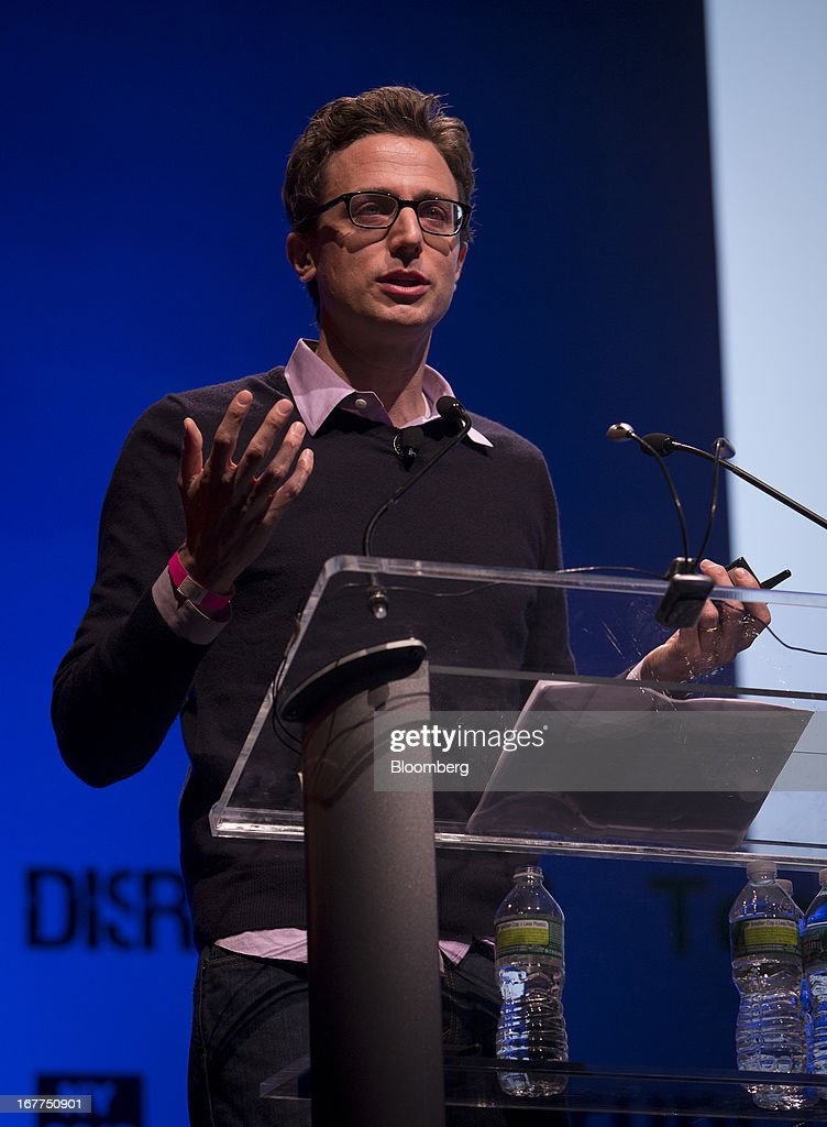 Jonah Peretti, founder and chief executive officer of BuzzFeed, speaks during the TechCrunch Disrupt NYC 2013 conference in New York, U.S., on Monday, April 29, 2013. The event features leaders from various technology fields and includes a competition for the best new startup company. Photographer: Scott Eells/Bloomberg via Getty Images