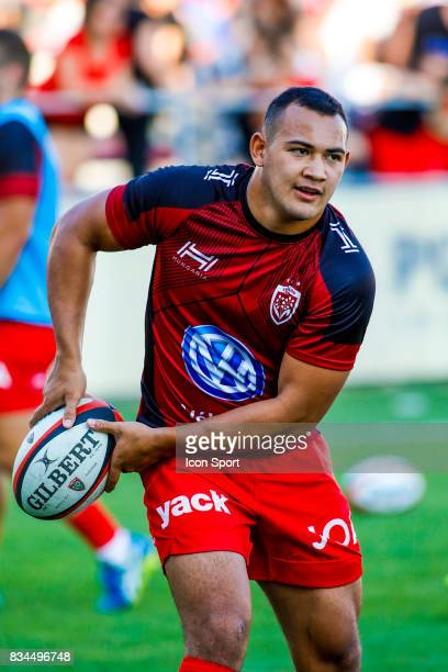 Jonah Placid of Toulon during the preseason match between Rc Toulon and Lyon OU at Felix Mayol Stadium on August 17 2017 in Toulon France